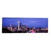 iCanvas Panoramic 'Skyscrapers in a City Lit up at Night, Space Needle, Seattle, King County, Washington State, 2010 Photographic Print on Canvas