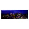iCanvas Panoramic Skyscrapers Lit up at Night, City of Los Angeles, California Photographic Print on Canvas