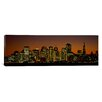 iCanvas Panoramic Skyscrapers Lit up at Night, San Francisco, California Photographic Print on Canvas