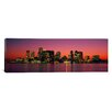 iCanvas Panoramic Sunset Boston, Massachusetts Photographic Print on Wrapped Canvas