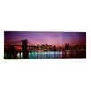 iCanvas Panoramic 'Skyscrapers Lit up at Night, World Trade Center, Lower Manhattan, New York City' Photographic Print on Canvas