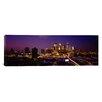 iCanvas Panoramic Skyscrapers Lit up at Dusk, Minneapolis, Minnesota Photographic Print on Canvas