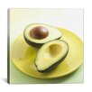 iCanvas Sliced Avocado on a Plate Photographic Print on Canvas