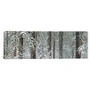 iCanvas Panoramic Snow Covered Ponderosa Pine Trees in a Forest, Indian Ford, Oregon Photographic Print on Canvas