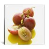 iCanvas Food and Cuisine Sliced Grapes Close-up Photographic Print on Canvas