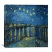 """iCanvas """"Starry Night over the Rhone"""" Canvas Wall Art by Vincent Van Gogh"""