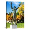 iCanvas Panoramic Statue of Rocky Balboa in a Park, Philadelphia Museum of Art, Benjamin Franklin Parkway Photographic Print on Canvas