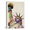 iCanvas 'Statue of Liberty' by Michael Tompsett Graphic Art on Canvas