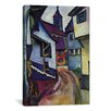 iCanvas 'Street with Church with Kandern' by August Macke Painting Print on Wrapped Canvas