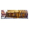 iCanvas Panoramic Statues at Base of Golden Chedi, the Grand Palace, Bangkok, Thailand Photographic Print on Canvas