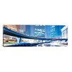 iCanvas Panoramic Streets at Night in the City Panoramic Skyline Cityscape Photographic Print on Wrapped Canvas