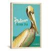 iCanvas Anderson Design Group The Pelican Seaside Pub Vintage Advertisment on Canvas