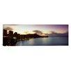 iCanvas Panoramic Sunrise at Waikiki Beach Honolulu, Hawaii Photographic Print on Canvas