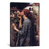 iCanvas 'The Soul of The Rose' by John William Waterhouse Painting Print on Canvas