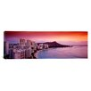 iCanvas Panoramic Sunset Honolulu Oahu, Hawaii Photographic Print on Canvas