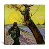 "iCanvas ""The Sower"" by Vincent Van Gogh Painting Print on Wrapped Canvas"