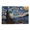 "iCanvas ""The Starry Night"" by Vincent Van Gogh Painting Print on Wrapped Canvas"