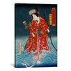 iCanvas Japanese Art 'Sawamura Tanosuke Iii' by Kunisada Painting Print on Wrapped Canvas