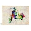 "iCanvas ""Scooter Vespa (Urban)"" by Michael Tompsett Graphic Art on Canvas"
