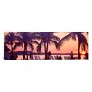 iCanvas Panoramic Sunset on the Beach, Miami Beach, Florida Photographic Print on Canvas