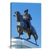 iCanvas Panoramic Statue of Sam Houston Pointing Towards San Jacinto Battlefield Against Blue Sky, Hermann Park, Houston, Texas Photographic Print on Wrapped Canvas