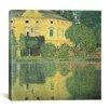 "iCanvas ""Schloss Kammer on the Attersee IV (Schloss Kammer on Lake Attersee IV)"" Canvas Wall Art by Gustav Klimt"