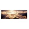 iCanvas Panoramic Suspension Bridge Covered with Fog Viewed from Hawk Hill, Golden Gate Bridge, San Francisco Bay, California Photographic Print on Wrapped Canvas