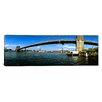 iCanvas Panoramic Suspension Bridge Across a River, Brooklyn Bridge, East River, Manhattan, New York City, New York State Photographic Print on Wrapped Canvas