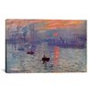 iCanvas 'Sunrise Impression' by Claude Monet Painting Print on Canvas