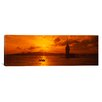 iCanvas Panoramic Sunset over a River, Bosphorus, Istanbul, Turkey Photographic Print on Canvas