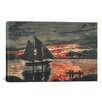 iCanvas 'Sunset Fires 1880' by Winslow Homer Painting Print on Canvas