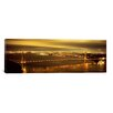 iCanvas Panoramic Suspension Bridge Lit up at Dusk, Golden Gate Bridge, San Francisco, California Photographic Print on Wrapped Canvas