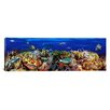 iCanvas Panoramic School of Fish Swimming Near a Reef Photographic Print on Wrapped Canvas
