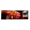 iCanvas Panoramic Strip Club Lit up at Night, Las Vegas, Nevada Photographic Print on Canvas