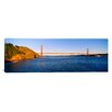 iCanvas Panoramic Suspension Bridge Across the Sea, Golden Gate Bridge, San Francisco, California Photographic Print on Wrapped Canvas