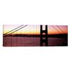 iCanvas Panoramic Suspension Bridge at Sunrise, Golden Gate Bridge, San Francisco Bay, San Francisco, California Photographic Print on Wrapped Canvas