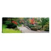 iCanvas Panoramic Stone Bridge, the Japanese Garden, Seattle, Washington State Photographic Print on Canvas