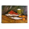 iCanvas 'Still Life with Mackerel, Lemon, and Tomato' by Vincent Van Gogh Painting Print on Wrapped Canvas
