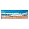 iCanvas Panoramic Surf Fountains Big Makena Beach Maui, Hawaii Photographic Print on Canvas