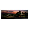 iCanvas Panoramic Sunset Puget Sound and Seattle Skyline Washington Photographic Print on Wrapped Canvas