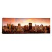 iCanvas Panoramic Sunset Skyline Chicago, Illinois Photographic Print on Canvas