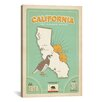 iCanvas 'State Pride CA1001' by Anderson Design Group Vintage Advertisement on Wrapped Canvas