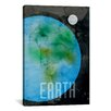 iCanvas 'The Planet Earth' by Michael Thompsett Graphic Art on Canvas