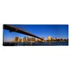iCanvas Panoramic Brooklyn Bridge, East River, Manhattan, New York City, New York State  Photographic Print on Wrapped Canvas