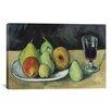iCanvas 'Verre Et Poires 1879-1880' by Paul Cezanne Painting Print on Wrapped Canvas