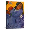 iCanvas 'Woman of The Mango (Vahine no te vi)' by Paul Gauguin Painting Print on Wrapped Canvas