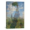 iCanvas 'Woman with a Parasol (Madame Monet and Her Son) 1875' by Claude Monet Painting Print on Wrapped Canvas