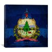 iCanvas Flags Vermont Capitol Building Graphic Art on Wrapped Canvas