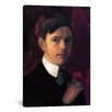 iCanvas 'Self Portrait' by August Macke Painting Print on Canvas