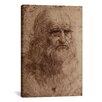 iCanvas 'Self-Portrait 1515' by Leonardo Da Vinci Painting Print on Canvas